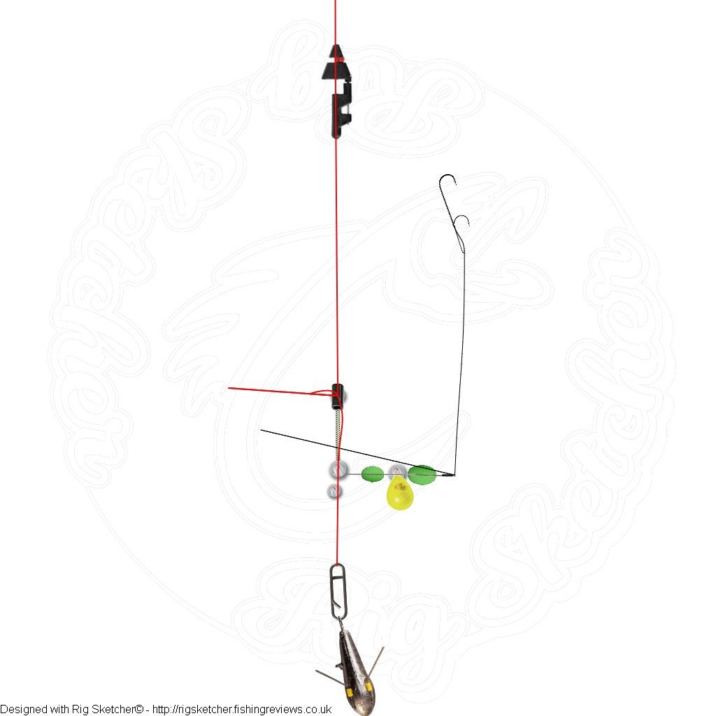 Rig sketcher shore flattie rig for Shore fishing rigs